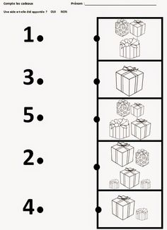 Cute little Christmas counting, matching and tracing worksheet! Christmas Worksheets, Christmas Math, Preschool Christmas, Preschool Math, Kindergarten Worksheets, Christmas Activities, Teaching Math, Activities For Kids, Tracing Worksheets