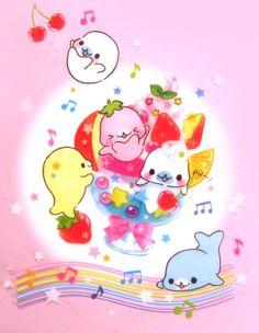 San-x Mamegoma Ice Cream Plastic File Folder http://shop.kawaiidepot.com/Mamegoma_c39.htm