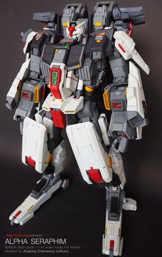 GUNDAM GUY: 1/144 Alpha Seraphim Gundam - Custom Build
