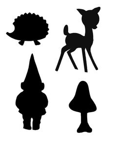 woodland silhouettes -  you can make shadow puppets out of these images.