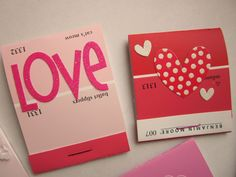 So cute-paint chip Valentine's Day cards!