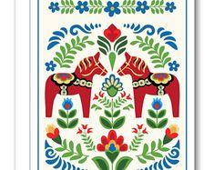super Ideas for swedish folk art tattoo ideas Folk Art Flowers, Flower Art, Bel Art, Campolina, Folk Print, Scandinavian Folk Art, Scandinavian Pattern, Polish Folk Art, Christmas Art