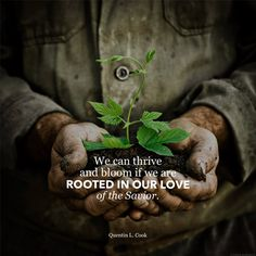 We can thrive and bloom if we are rooted in our love of the Savior.