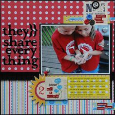 Love Holly's layout for exhaustyourexcess.com challenge.
