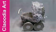 Wózek z papierowej wikliny (Stroller, paper wicker, DIY)