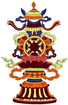 藏密修海 - Powered by Discuz! Board Tibet Art, Ornament Drawing, Buddhist Symbols, Paisley Art, Truck Art, China, Elements Of Art, Abstract Pattern, Textile Design