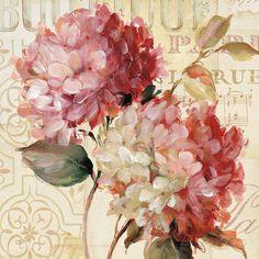 Tangletown Fine Art Harmonious V By Lisa Audit, Gallery Wrap Canvas, Green Vintage Diy, Vintage Paper, Vintage Images, Art Floral, Floral Prints, Images Victoriennes, Canvas Prints, Art Prints, Canvas Art