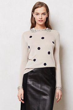 Jeweled Dots Pullover #anthropologie
