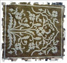 Wall quilt-panels created in the embroidery machine- From the Gulshan-e-Ferdos collection