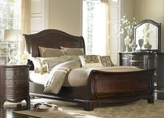 Sutton Place bedroom & Highland Park bedding ensemble available in store | Havertys Furniture