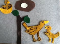 Felt Board Ideas: Are You My Mother? Felt Board Story You are in the right place about Diy Felt Boar Bird Crafts, Crafts To Do, Felt Crafts, Crafts For Kids, Felt Board Stories, Felt Stories, Diy Projects For Kids, Diy For Kids, Art Projects