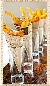 Fish & Chips | Foodie | Private Party Caterers | Delicious Food http://www.partyingredients.co.uk/food-and-drink