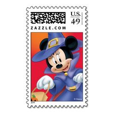 Minnie Mouse Halloween Postage