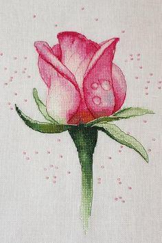 Rose Cross Stitch Pattern Flowers Cross Stitch DIY X Stitch Chart Needlepoint Pattern Embroidery Cha Cross Stitch Tattoo, Cross Stitch Rose, Modern Cross Stitch, Cross Stitch Flowers, Cross Stitch Designs, Cross Stitch Patterns, Rose Embroidery, Cross Stitch Embroidery, Embroidery Patterns