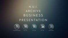 NUI Archive Presentation by Jacopo Pulcini, via Behance