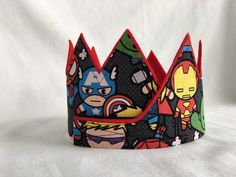 Avengers CrownRed Avengers Birthday Crown by CreationsColleen Avengers Birthday, Birthday Party Hats, Letter To Yourself, The Crown, Kid Names, One Pic, Crowns, Felt, Superhero