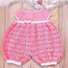 Baby Crochet Patterns Part 20 - Beautiful Crochet Patterns and Knitting Patterns Baby Girl Crochet, Crochet Baby Clothes, Newborn Crochet, Crochet For Kids, Knit Crochet, Hand Crochet, Baby Patterns, Knitting Patterns, Crochet Patterns
