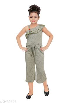 Jumpsuits Stunning Kid's Girl's Jumpsuit Fabric: Polyester Blend Sleeves: Sleeves Are Not Included Size:Age Group (18 Months - 24 Months) - 20 in Age Group (2 - 3 Years) - 22 in Age Group (3 - 4 Years) - 24 in Age Group (4 - 5 Years) - 26 in Age Group (5 - 6 Years) - 28 in Age Group (6 - 7 Years) - 30 in Type:Stitched  Description:It Has 1 Piece of Kid's Girl's Jumpsuit Work: Printed Country of Origin: India Sizes Available: 2-3 Years, 3-4 Years, 4-5 Years, 5-6 Years, 6-7 Years, 7-8 Years, 8-9 Years *Proof of Safe Delivery! Click to know on Safety Standards of Delivery Partners- https://ltl.sh/y_nZrAV3  Catalog Rating: ★4.1 (2101)  Catalog Name: Stunning Kid's Girl's Jumpsuits Vol 3 CatalogID_327004 C62-SC1156 Code: 992-2439544-