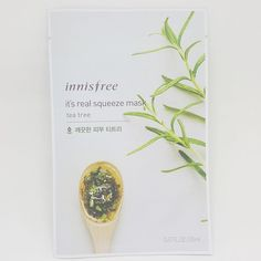 Innisfree It's Real Squeeze Facial Masks Tea Tree 20ml 3/8/16/35 Sheets Lot #Innisfree