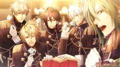 Kento, Tōma, Shin, Ikki, Ukyo   Amnesia World #otomegame * Toma and Shin *