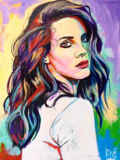 Lana Del Rey | $200 | Acrylic on canvas | trescreations.weebly.com