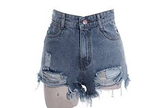 Cheap pants or jeans, Buy Quality jeans ladies directly from China jeans pants types Suppliers: 2016 New Women's Punk Rock Fashion Street Vintage Grunge Hole Water Wash Retro High Waist Sexy Shorts Jeans Shorts High Waisted Ripped Shorts, Ripped Jean Shorts, High Jeans, High Waist Jeans, Waisted Denim, Denim Pants, Hot Pants, Distressed Denim Shorts, Jeans Tumblr