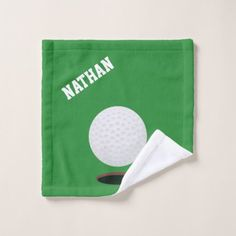 Shop Golf Ball Green Golf Wash Cloth created by DizzyDebbie. Golf Towels, Golf Accessories, Organizing Your Home, Golf Ball, Business Supplies, Washing Clothes, Print Design, Coin Purse, Gender