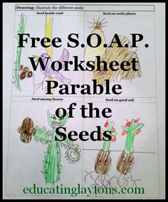 Free S.O.A.P. Worksheet ~ Parable of the Seeds