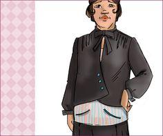 NVL 1920s Cross Front Flapper frock 42 bust PLUS by NewVintageLady (Craft Supplies & Tools, Patterns & Tutorials, flapper, dress, women, plus size, camisole, 1920s, 42 bust, sewing pattern, repro, Charleston dress, boardwalk empire, flapper dress, asymmetrical)