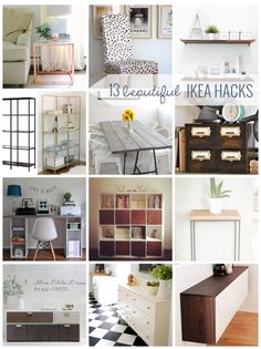 Diy Home Decor beautiful ikea hacks for every room in your home!Diy Home Decor beautiful ikea hacks for every room in your home! Diy Home Decor Rustic, Cheap Home Decor, Diy Room Decor, Ikea Hacks, Hacks Diy, Diy Furniture Projects, Home Projects, Space Furniture, Furniture Decor