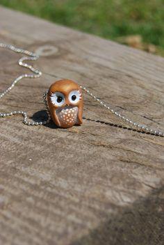Owl pendants por Hybridary en Etsy, €12.00