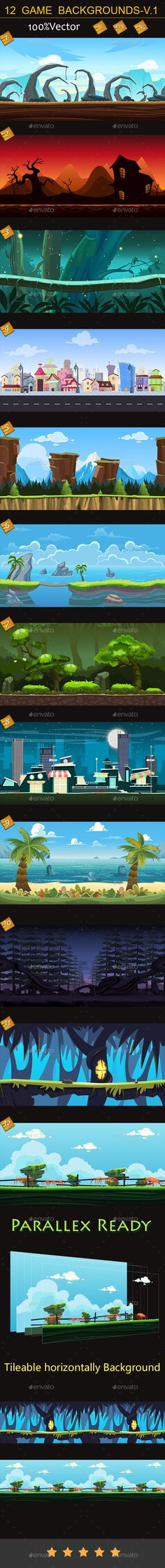 12 game backgrounds-v.1 Download here: https://graphicriver.net/item/12-game-backgroundsv1/11309207?ref=KlitVogli