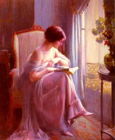 """""""After tea"""" by Delphin Enjolras (French, 1857-1945)"""