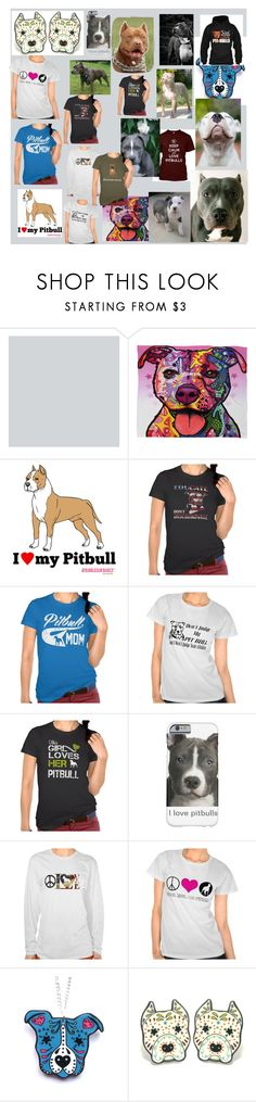 """""""Pit bull love and support"""" by drexapponomus ❤ liked on Polyvore featuring DENY Designs"""