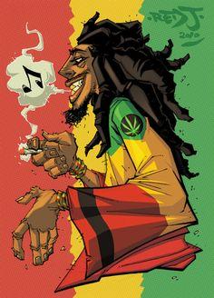 Bob Marley - Red-J.deviantart.com