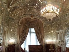 all of Mirrors at Sa'dabad Palace. Shahvand Castle complex — in Tehran. Lizzie Hearts, My New Room, Embroidery Designs, House Design, Ceiling Lights, Glass Ceiling, Pretty, Aesthetics, Gatsby