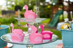 Create pink flamingo cupcake wrappers for your pink flamingo party with your Silhouette