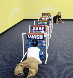 Sensory Car Wash - great indoor activity for hours of play