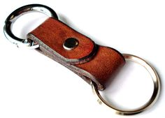 Customizable Leather Circle Carabiner Key MXS Chain $31.70