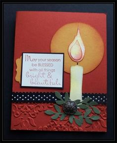 Christmas Candle for Queen Julie by TrishG - Cards and Paper Crafts at Splitcoaststampers