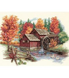 Dimensions Glory Of Autumn Cntd X-Stitch Kit at Joann.com