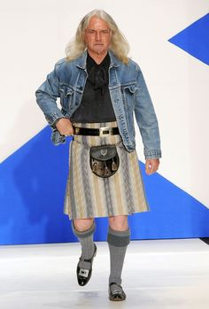 Billy Connolly Picture 13 - Annual Dressed to Kilt Charity Fashion Show Billy Connolly, Man Skirt, Scottish Actors, Men In Kilts, Fashion Show, Mens Fashion, Ideal Man, Tartan Pattern, Celebrity Pictures