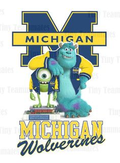 Monsters University Inspired Michigan Wolverines  by TinyTeammates, $7.00