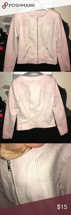 Baby Pink motorcycle Faux leather jacket This is a brand new faux leather pink jacket.  I didn't wear it, but took off the tag. I tried to style it, but it just didn't work for me. Missoni for Target Jackets & Coats