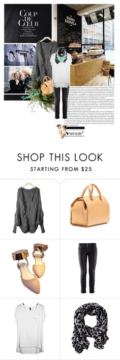 """"""".♥."""" by styletrove ❤ liked on Polyvore featuring FRIDA, Victoria Beckham, Nelly Accessories, ballet flats, bib necklaces, oversized cardigans, skinny pants, doctor's bags and scarf prints"""