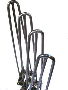 32 Hairpin Legs. 3 Rod Desk Leg. Heavy duty Steel by HairPinner, $30.00