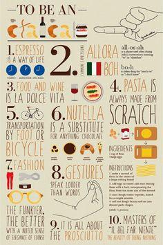 To be an Italian.