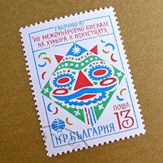 ブルガリア切手 マスク(1987年)