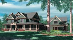 My ultimate dream home! If I ever won the lottery of course.  Parnell House Plan - 2751
