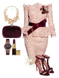 Untitled #293 by cogic-fashion on Polyvore featuring polyvore fashion style Alexander McQueen Carolee Barbour Tom Ford Zuhair Murad clothing